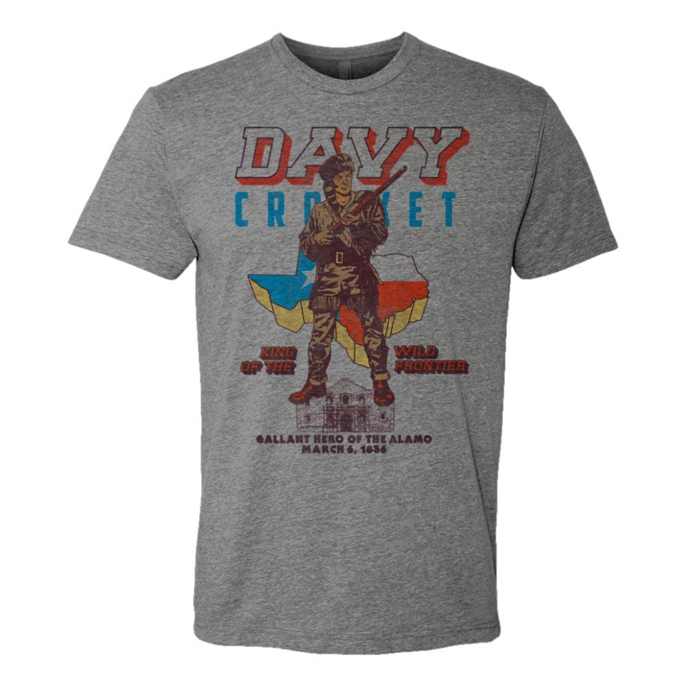Outhouse Designs Unisex Davy Crockett T-Shirt HTHGREY