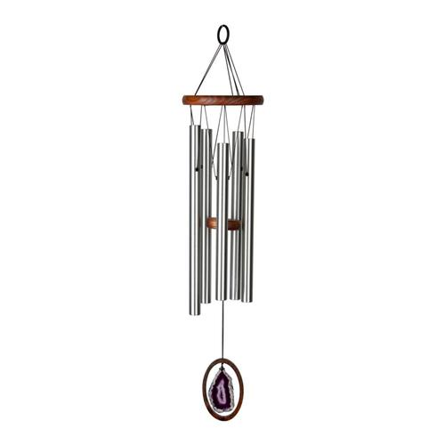 Woodstock Chimes Agate Wind Chime - Large, Purple Purple