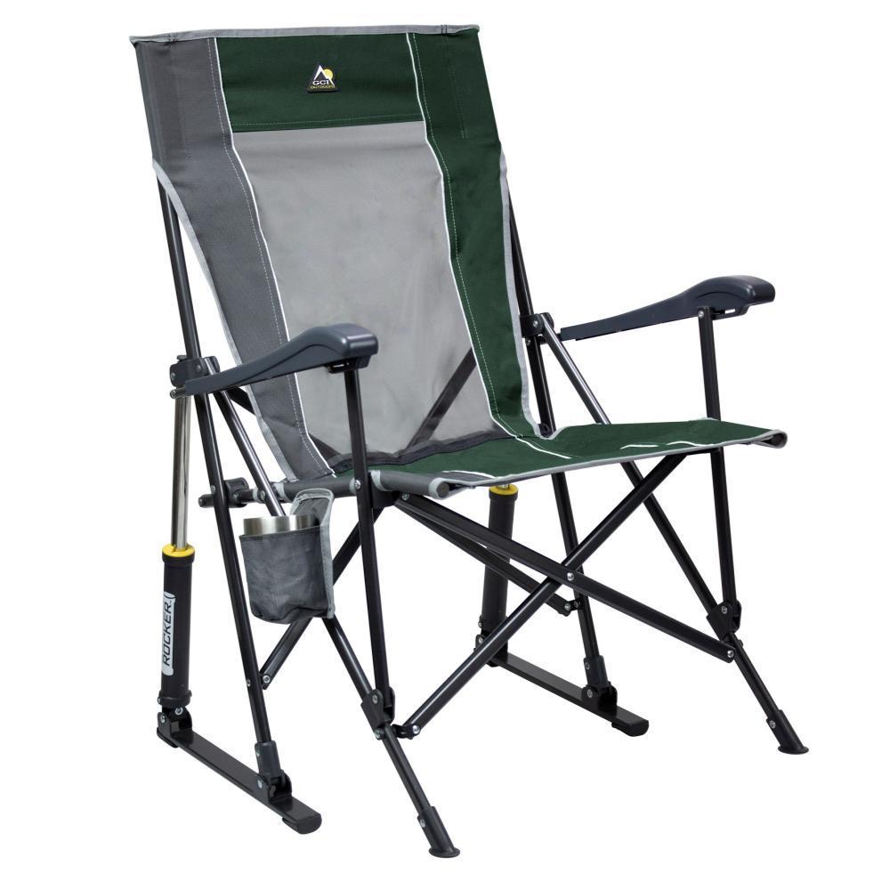 GCI Outdoor RoadTrip Rocker Hard Arm Rocking Chair HUNTER