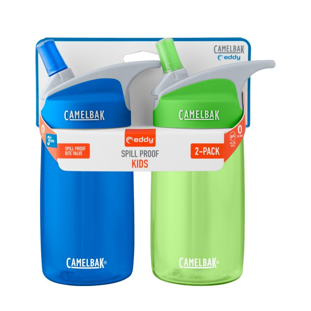 CamelBak Kids Eddy .4L Water Bottle - 2 Pack BLUE/GRASS