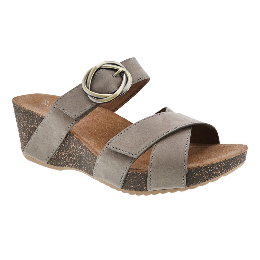 Dansko Women's Susie Taupe Milled Nubuck Sandals TAUPE