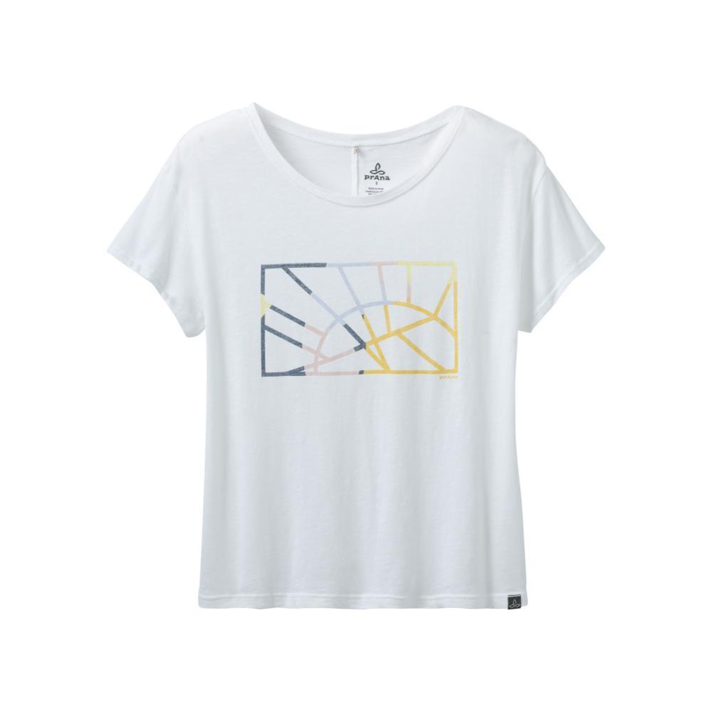 prAna Women's Chez Tee Shirt WHITESUNDO