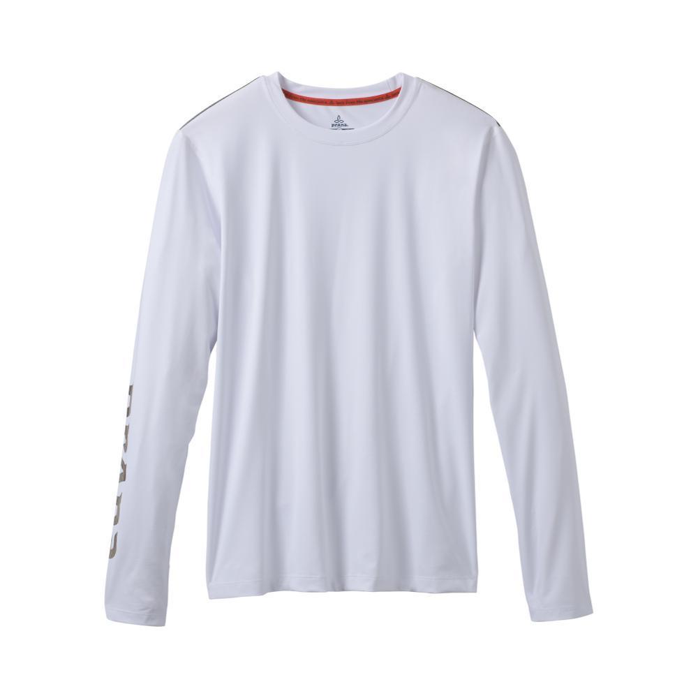 prAna Men's Calder Long Sleeve Shirt WHITEL