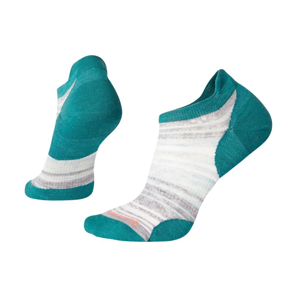 Smartwool Women's PhD Run Ultra Light Striped Micro Socks PEACCK_B97