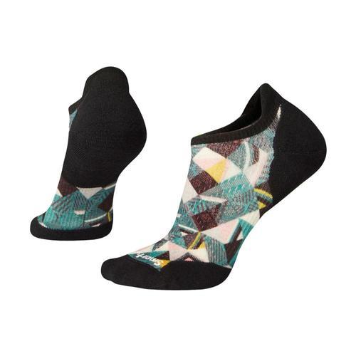 Smartwool Women's PhD Run Light Elite Print Micro Socks Peacck_b97