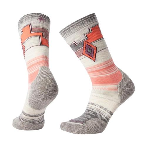 Smartwool Women's PhD Outdoor Light Pattern Crew Socks Mdgray_052