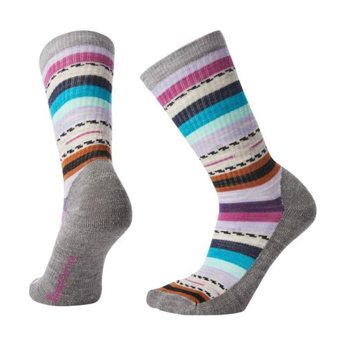 Smartwool Women's Hike Light Margarita Crew Socks Ltgray_039