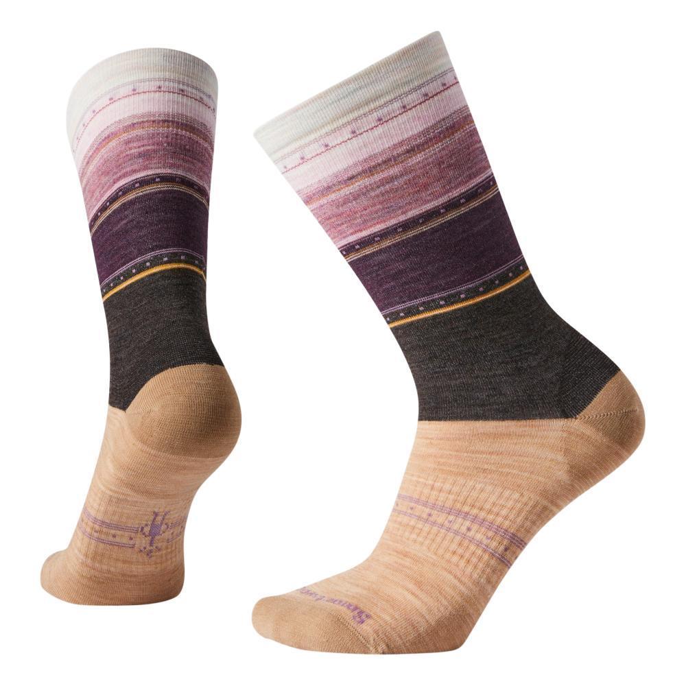 Smartwool Women's Sulawesi Stripe Crew Socks CAMEL_D98