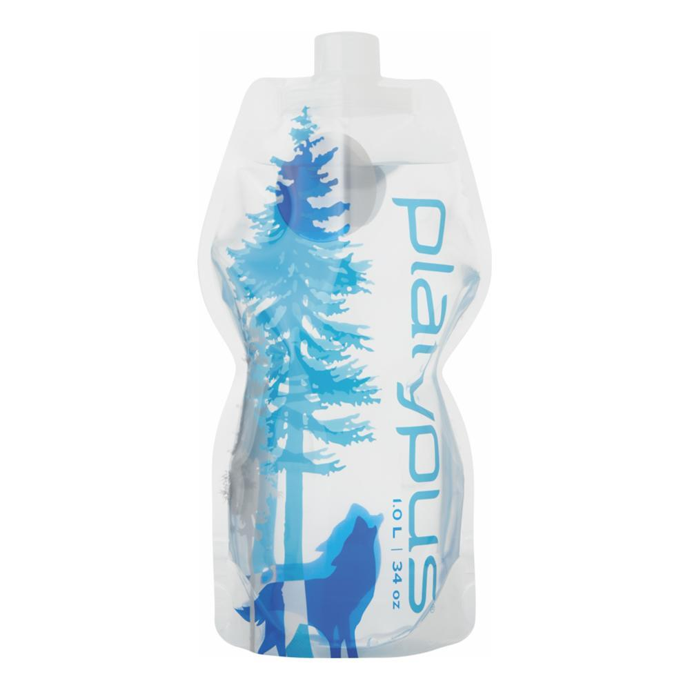 Platypus SoftBottle With Closure Cap - 1L WILD_BLUE