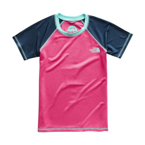 The North Face Girls Short Sleeve Amphibious Tee Pink_4ck
