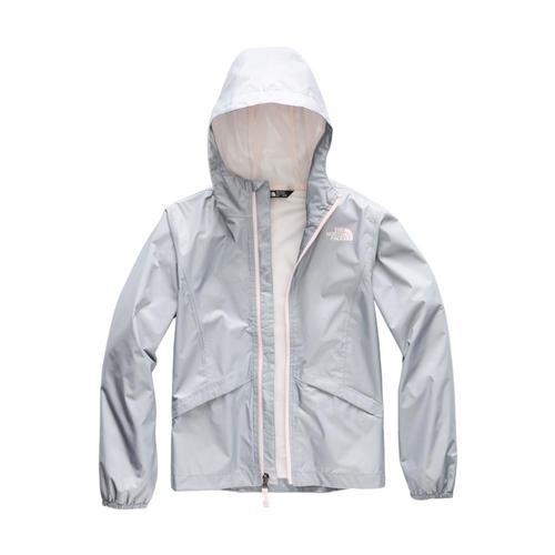 The North Face Girls Zipline Rain Jacket Grey_v3t