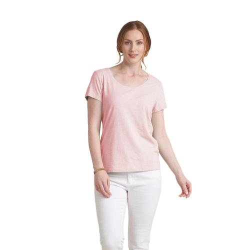 Habitat Women's Cotton Pebble Cap Sleeve Tee Ballet