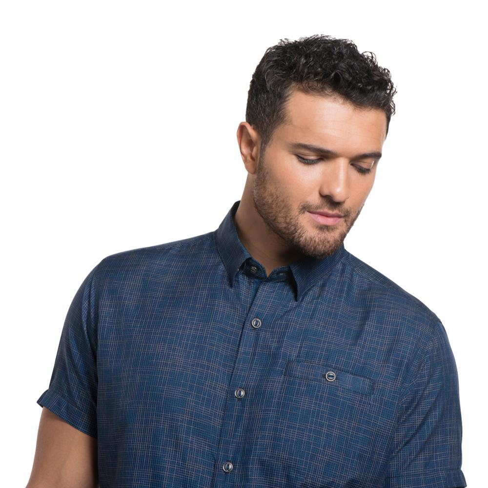 KUHL Men's Krossfire Short Sleeve Shirt BLUEDEP