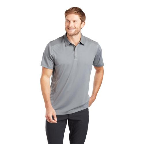 KUHL Men's Shadow Polo Short Sleeve Shirt Iron