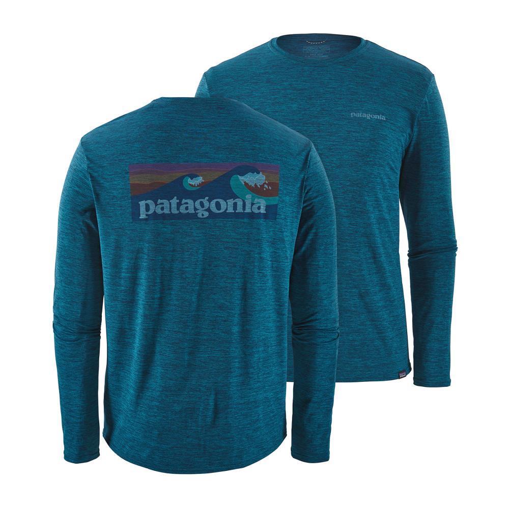 Patagonia Men's Long Sleeved Capilene Cool Daily Graphic Shirt BLBX