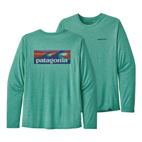 Patagonia Men's Long Sleeved Capilene Cool Daily Graphic Shirt Green_blgx