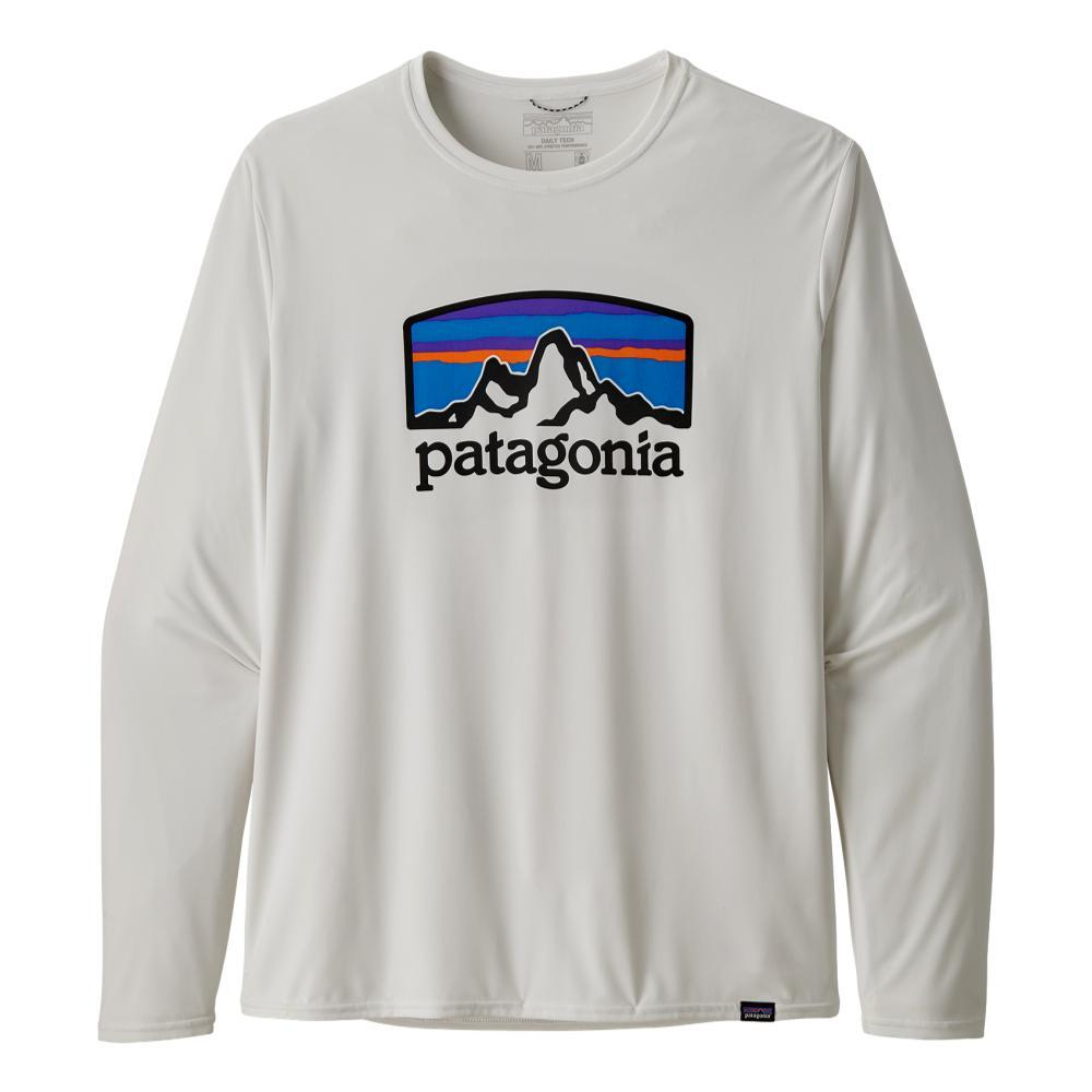 Patagonia Men's Long Sleeved Capilene Cool Daily Graphic Shirt WHITE_FHWH