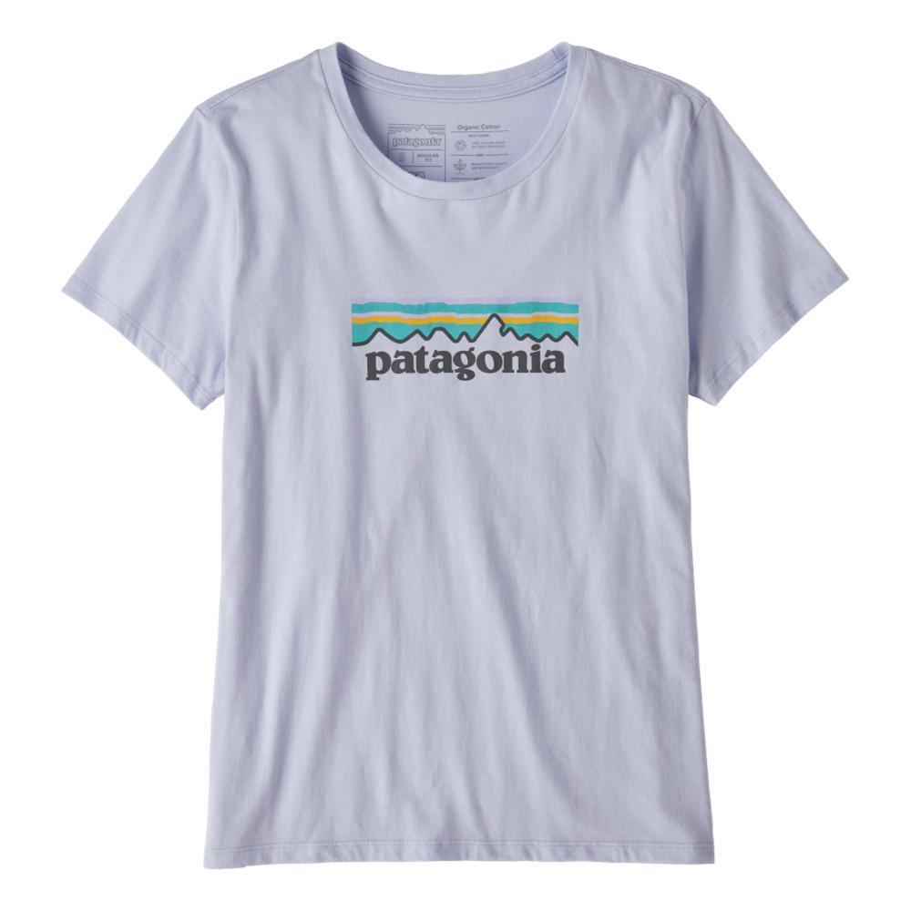 Patagonia Women's Pastel P-6 Logo Organic Crew T-Shirt BELUGA_BEU
