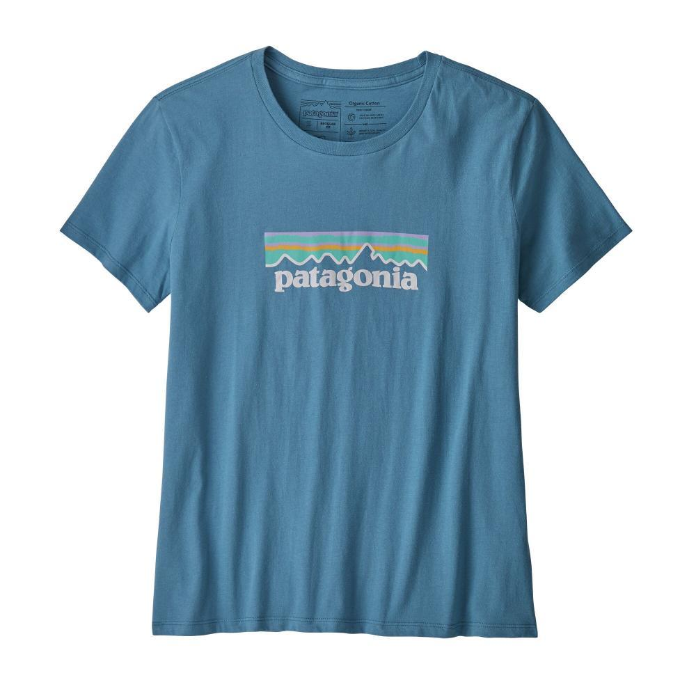 Patagonia Women's Pastel P-6 Logo Organic Crew T-Shirt WOBL