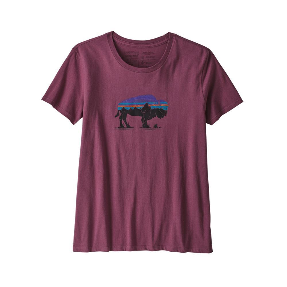 Patagonia Women's Fitz Roy Bison Organic Crew T-Shirt LIT