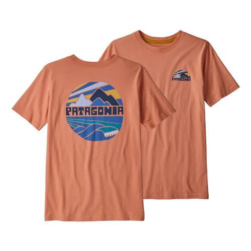 Patagonia Boys Graphic Organic T-Shirt Melon_frme