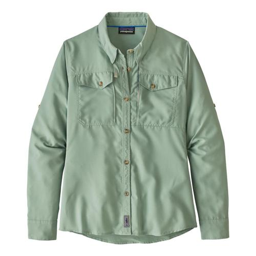 Patagonia Women's Long Sleeved Sol Patrol Shirt Green_gypg