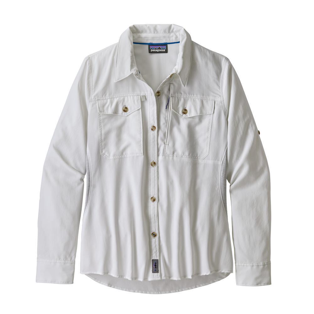 Patagonia Women's Long Sleeved Sol Patrol Shirt WHI_WHITE