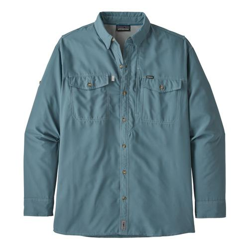 Patagonia Men's Long Sleeved Sol Patrol II Shirt Blue_pgbe