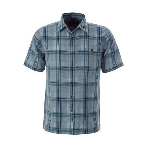 Royal Robbins Men's Mojave Pucker Dobby Plaid Short Sleeve Shirt Cloud