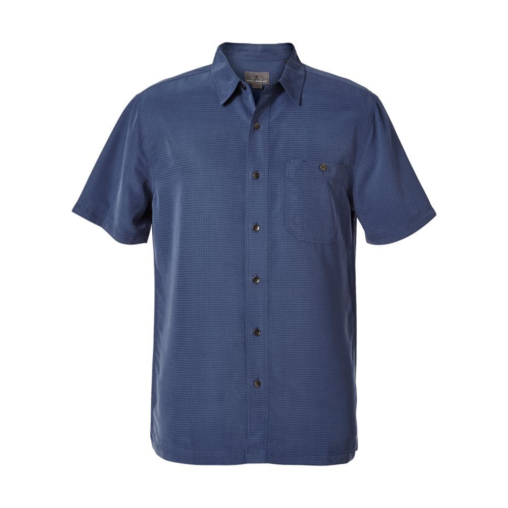 Royal Robbins Men's Mojave Pucker Dry Short Sleeve Shirt COLLBLUE
