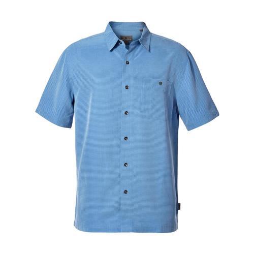 Royal Robbins Men's Mojave Pucker Dry Short Sleeve Shirt Parisblue