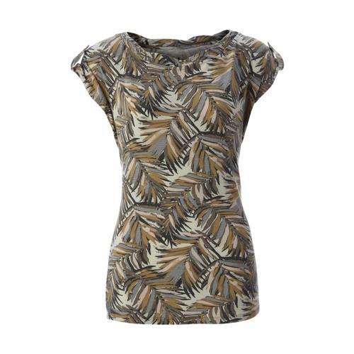 Royal Robbins Women's Noe Twist Print Short Sleeve Top Lttaupe