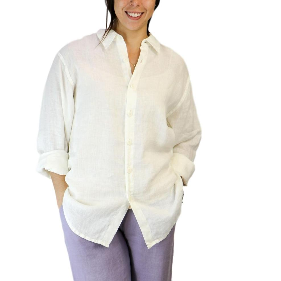 FLAX Women's Men's Shirt MILK