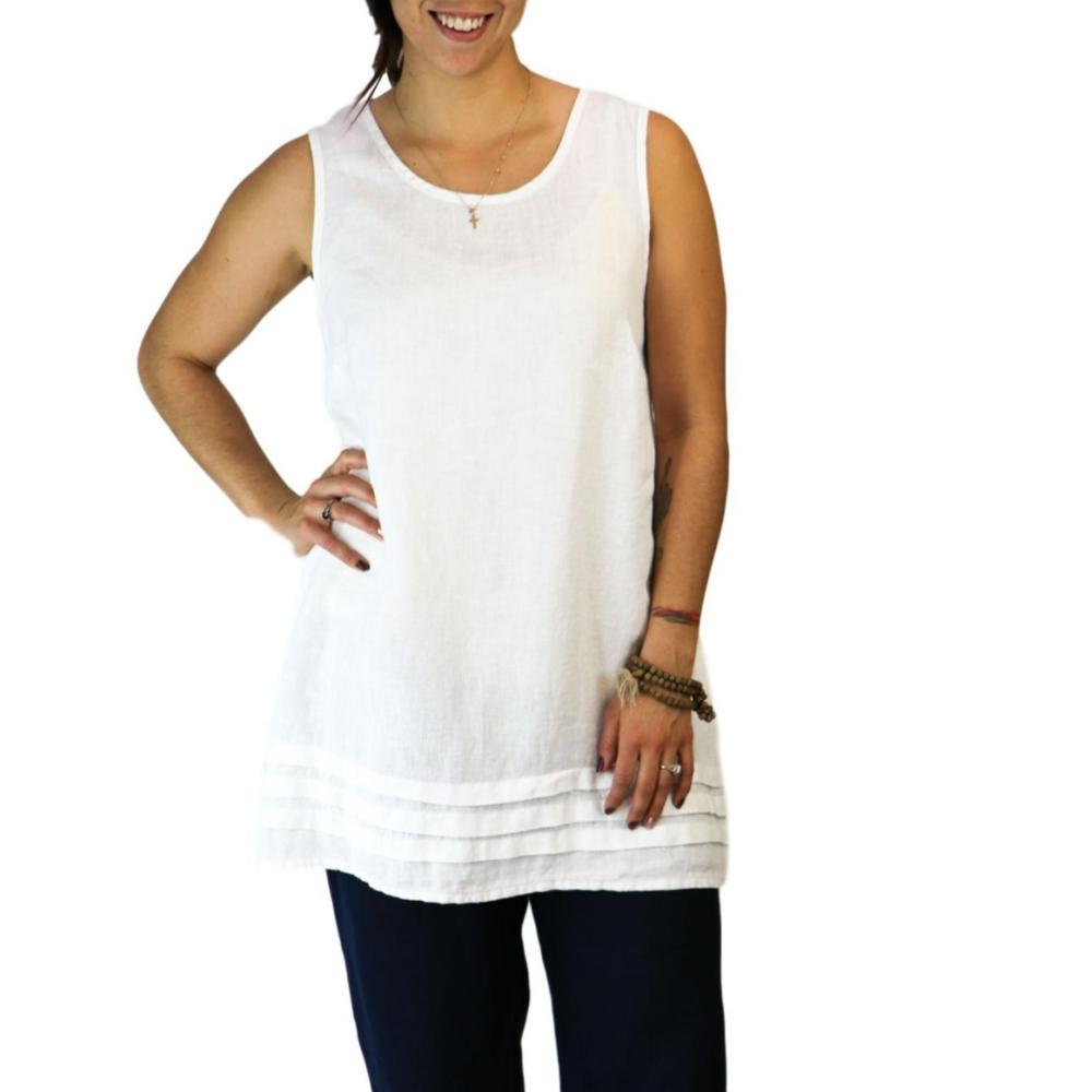 FLAX Women's Tuck Tunic WHITE