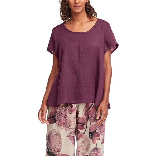 FLAX Women's Playful Top Maroon