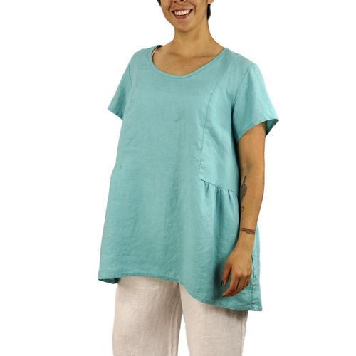 FLAX Women's Play In It Short Sleeve Shirt Aruba