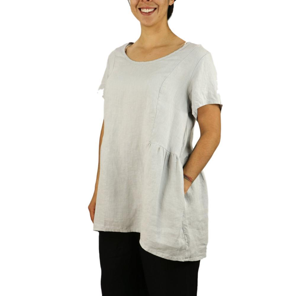 FLAX Women's Play In It Short Sleeve Shirt DOVE