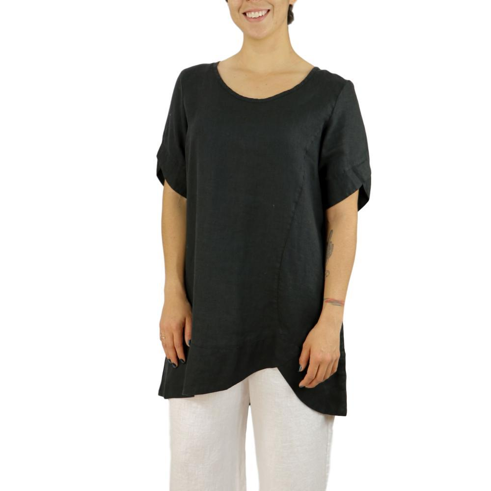 FLAX Women's Scallop Tunic BLACK