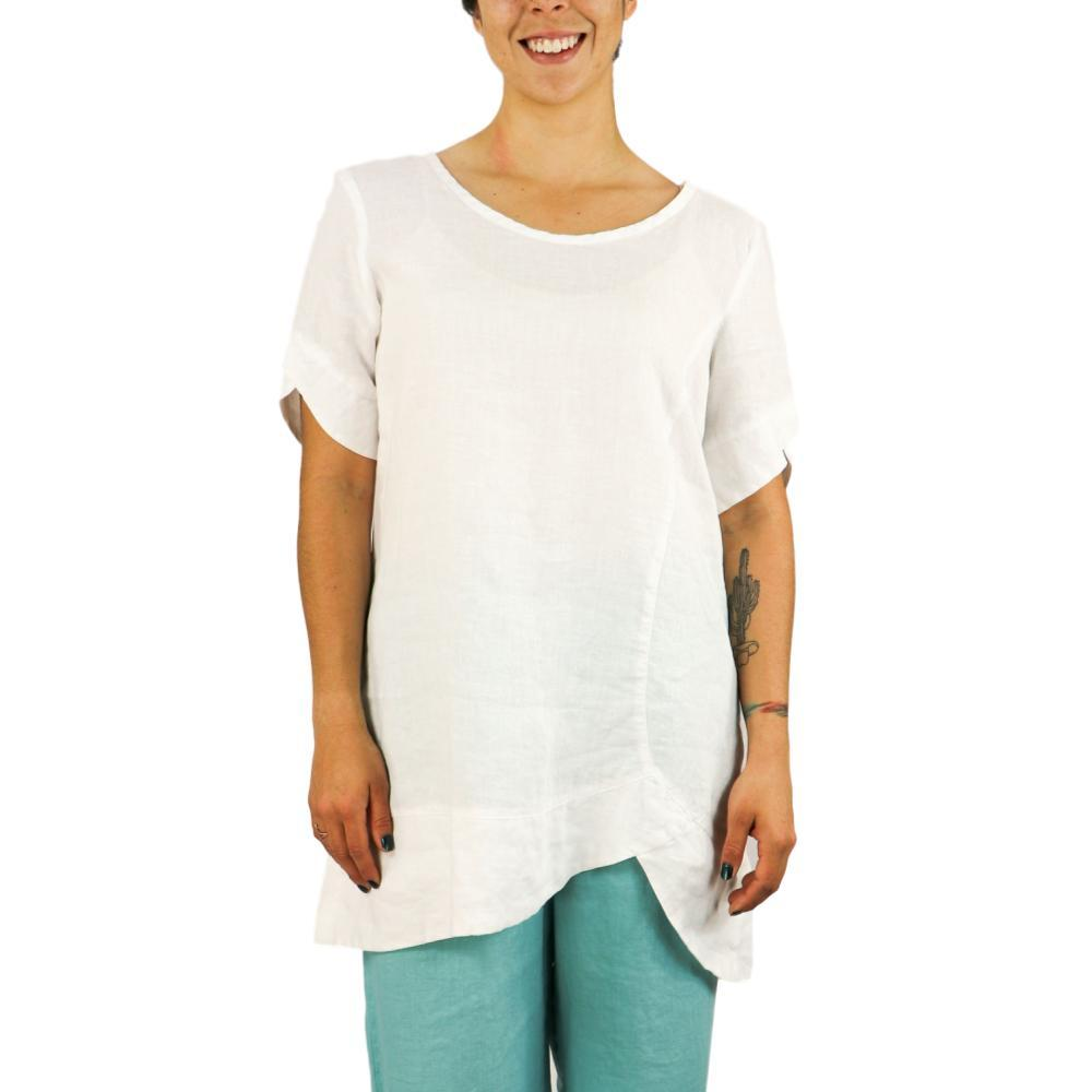 FLAX Women's Scallop Tunic WHITE