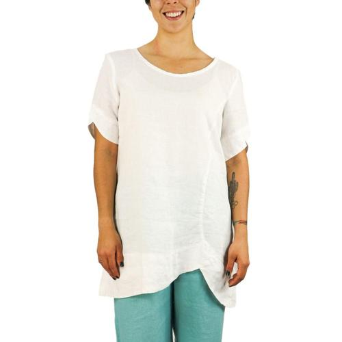 FLAX Women's Scallop Tunic White