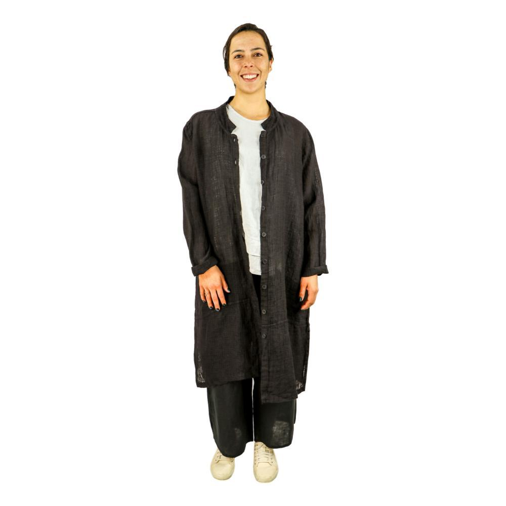FLAX Women's Abstract Duster BLACKPANE