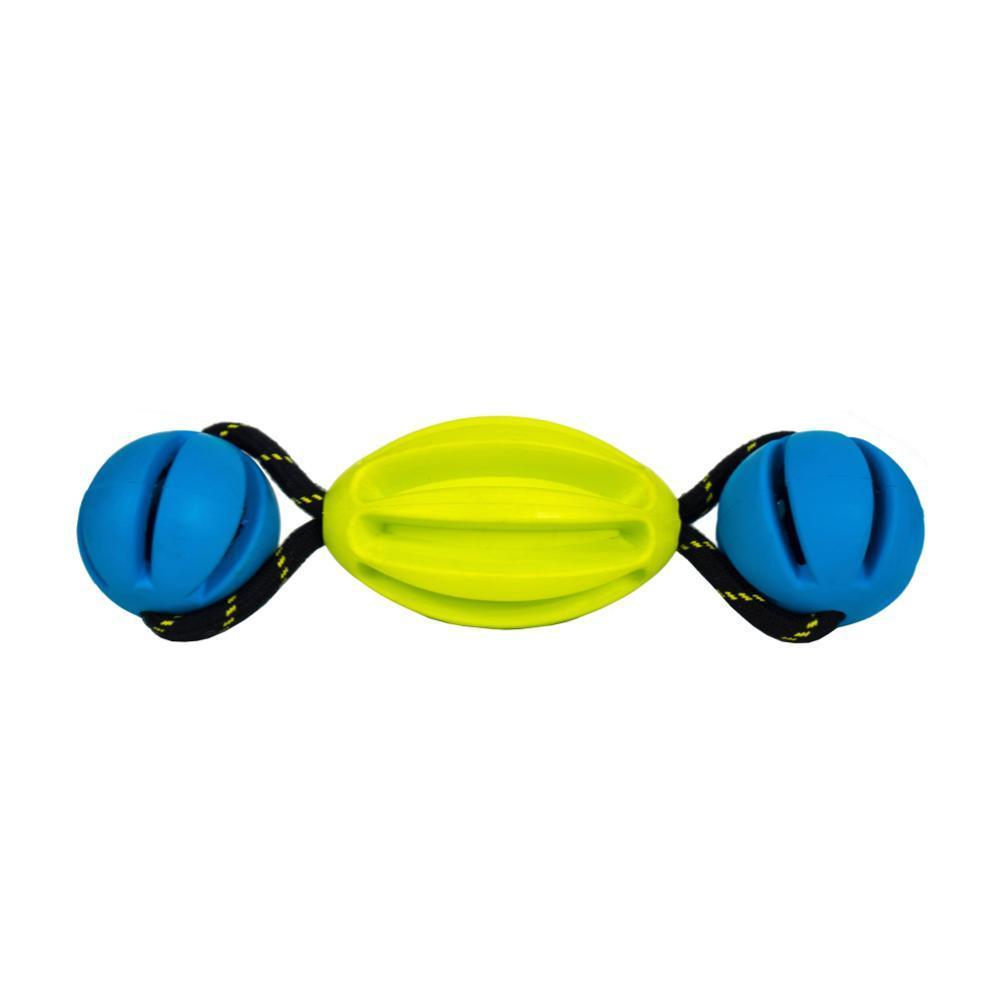 OllyDog Olly Tumbler Dog Toy LIME.BLUE