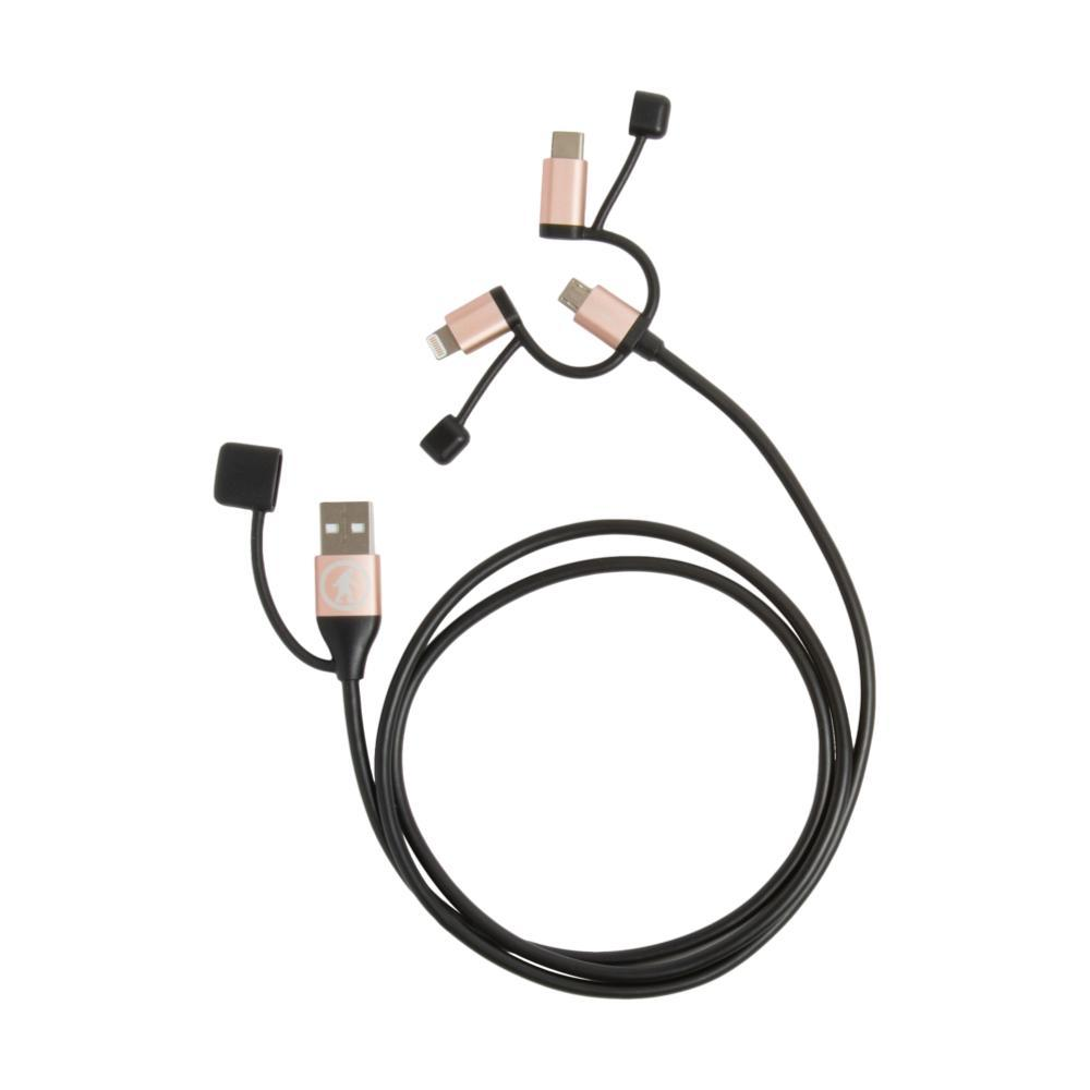 Outdoor Tech Calamari Ultra Lightning, USB C & Micro USB Cable BLK.RS.GLD