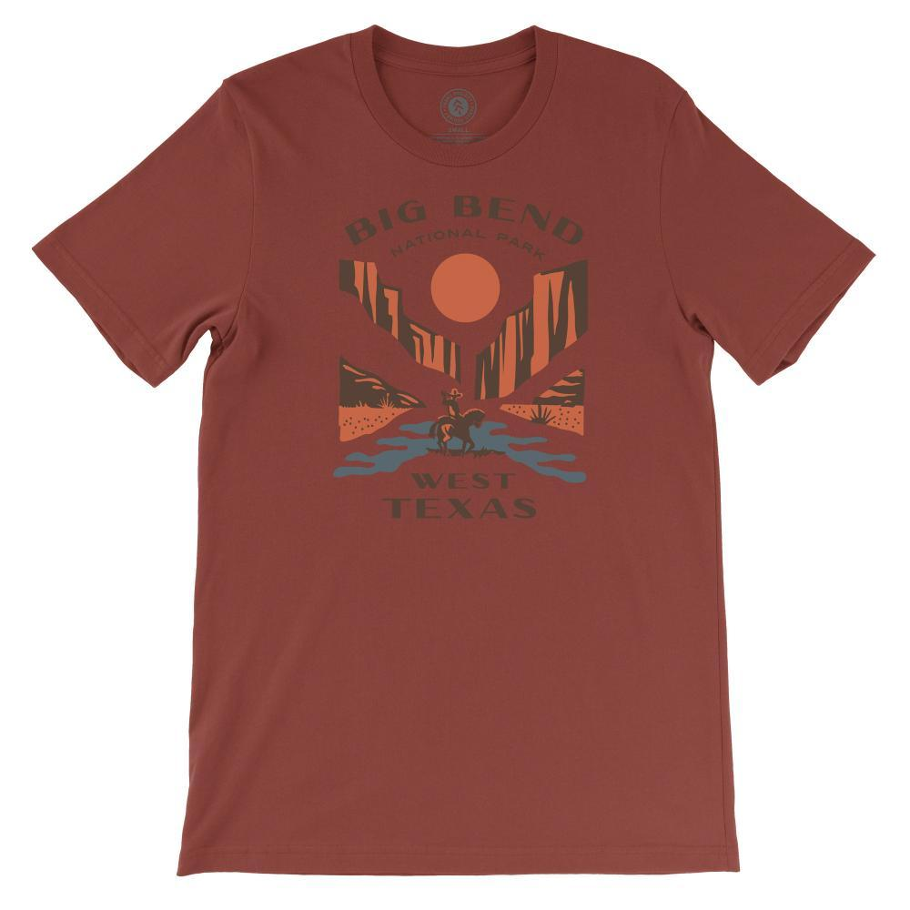 Parks Project Unisex Big Bend West Texas Tee RUST