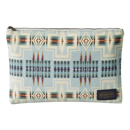Pendleton Black Tuscon Canopy Canvas Big Zip Pouch Aqua_54739