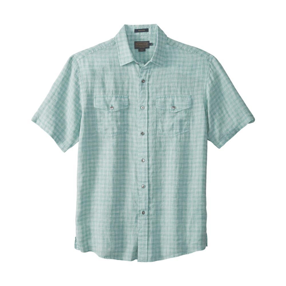 Pendleton Men's Malone Linen Short Sleeve Shirt TURQ65491