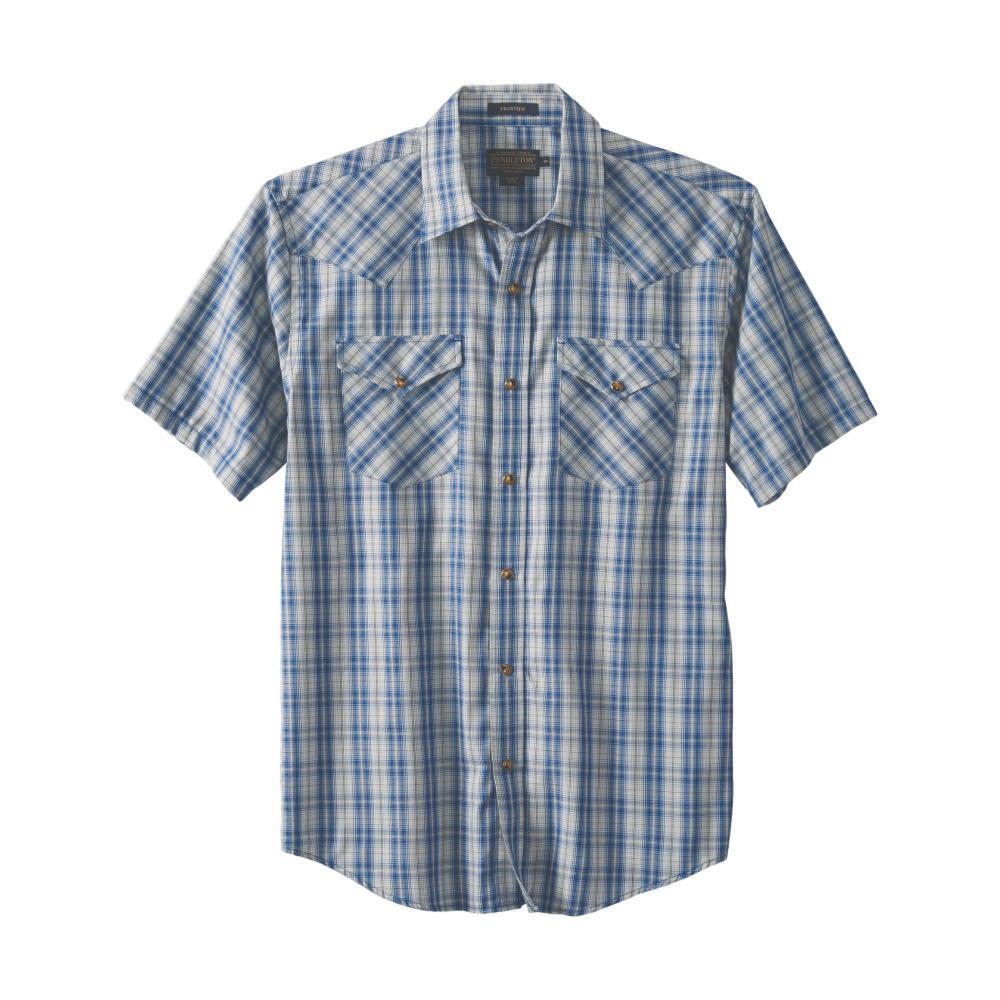 Pendleton Men's Frontier Short Sleeve Shirt BLUE65524