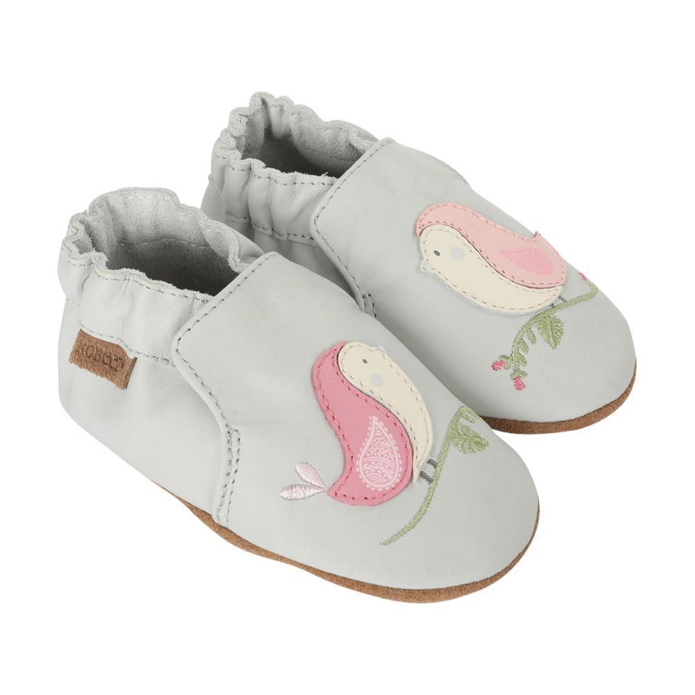 Robeez Baby Bird Buddies Grey Soft Soles Shoes LTGREY