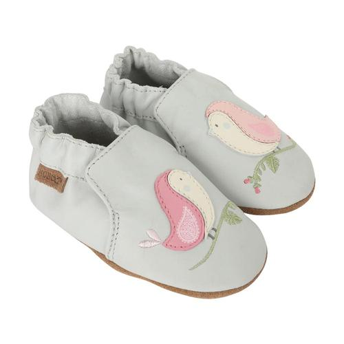 Robeez Baby Bird Buddies Grey Soft Soles Shoes Ltgrey