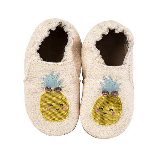 Robeez Baby Beige Happy Fruit Soft Soles Shoes Pineapple